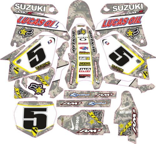 Комплект наклеек SUZUKI RMZ-450 2005-2006 CAMUFLADA