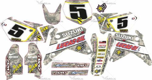 Комплект наклеек SUZUKI RMZ-450 2005-2006 CAMUFLADA2