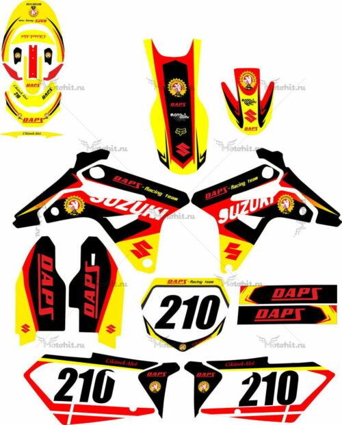 Комплект наклеек SUZUKI RMZ-450 2007 RAPZ