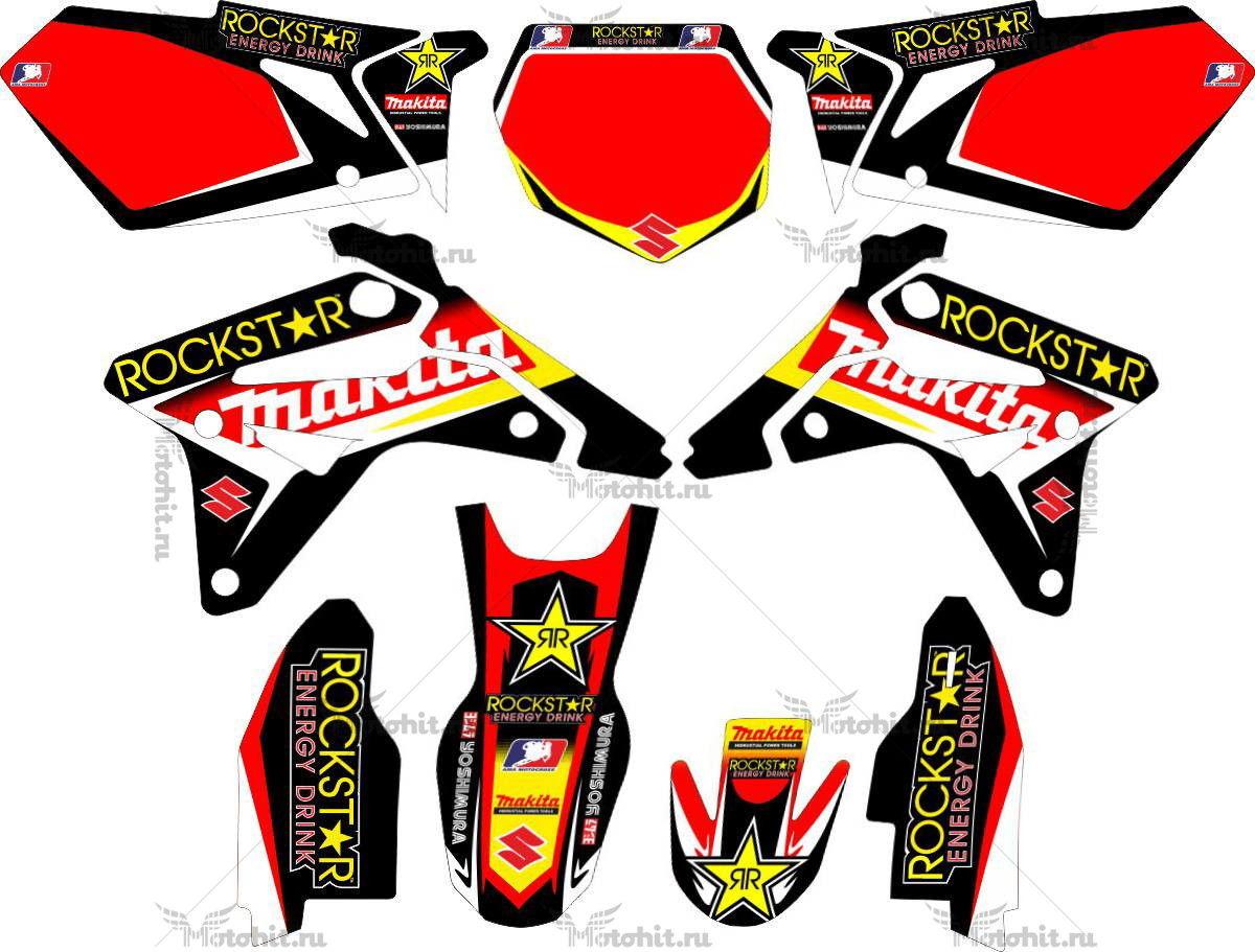 Комплект наклеек SUZUKI RMZ-450 2007 ROCKSTAR