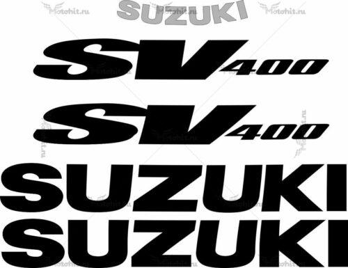 Комплект наклеек SUZUKI SV-400-S 1998 BLACK
