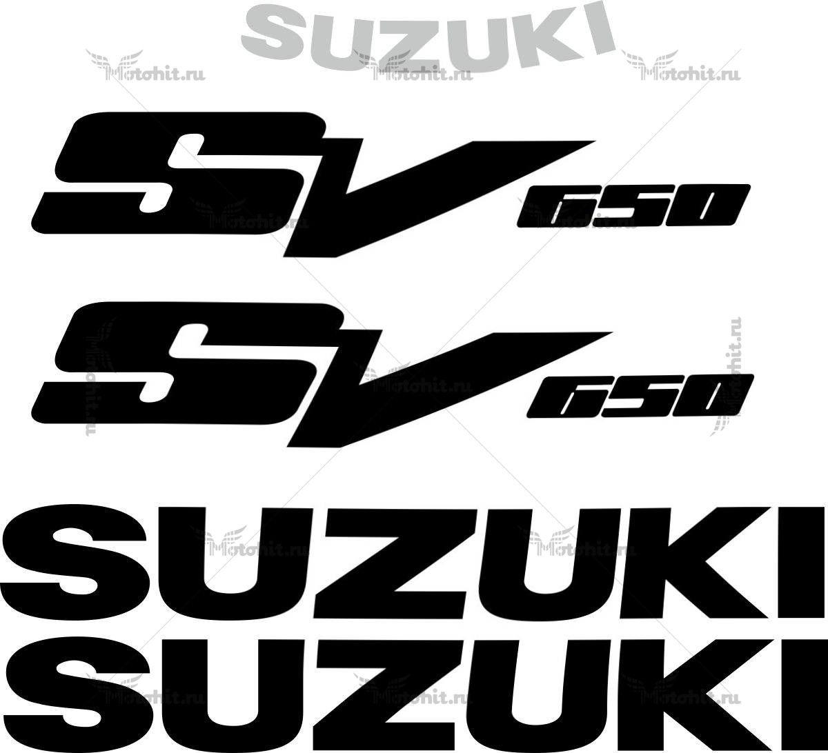Комплект наклеек SUZUKI SV-650 1999-2010 BLACK