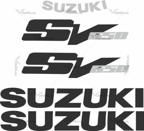 Комплект наклеек SUZUKI SV-650 1999-2010 BLACK-SILVER