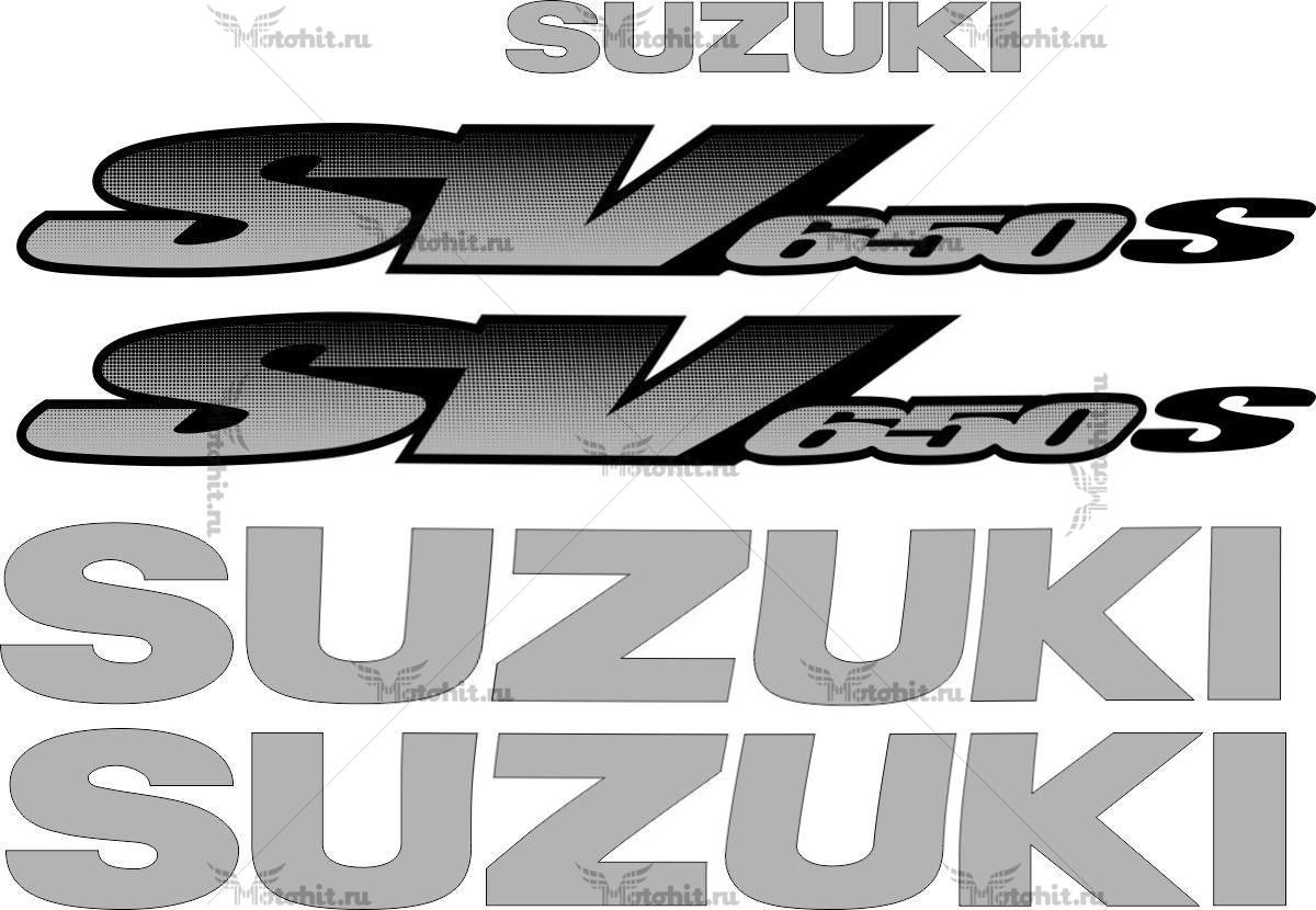 Комплект наклеек SUZUKI SV-650-S 2001 STRAIGHT