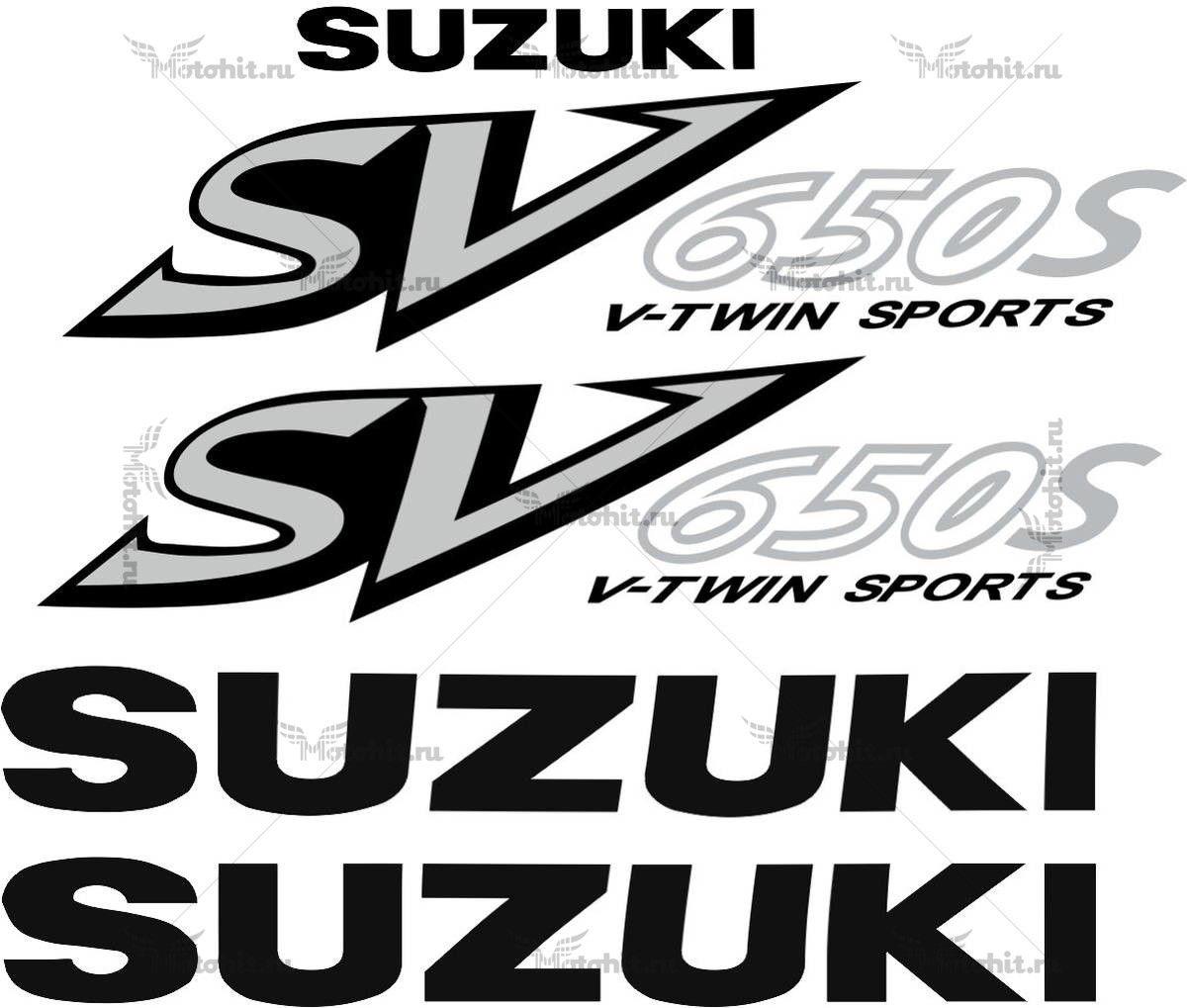 Комплект наклеек SUZUKI SV-650-S 2002