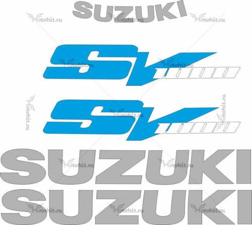 Комплект наклеек SUZUKI SV-1000 2003-2008 SILVER-WHITE