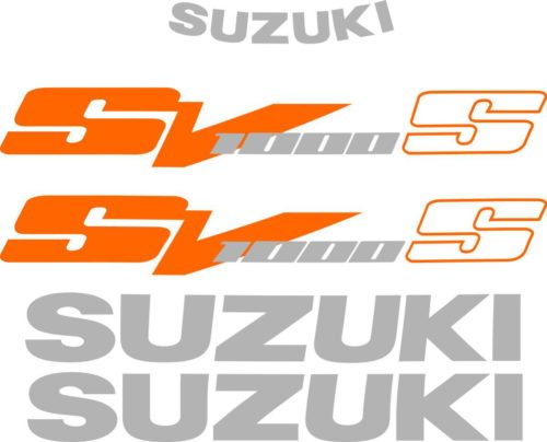 Комплект наклеек SUZUKI SV-1000-S 2003-2008 ORANGE