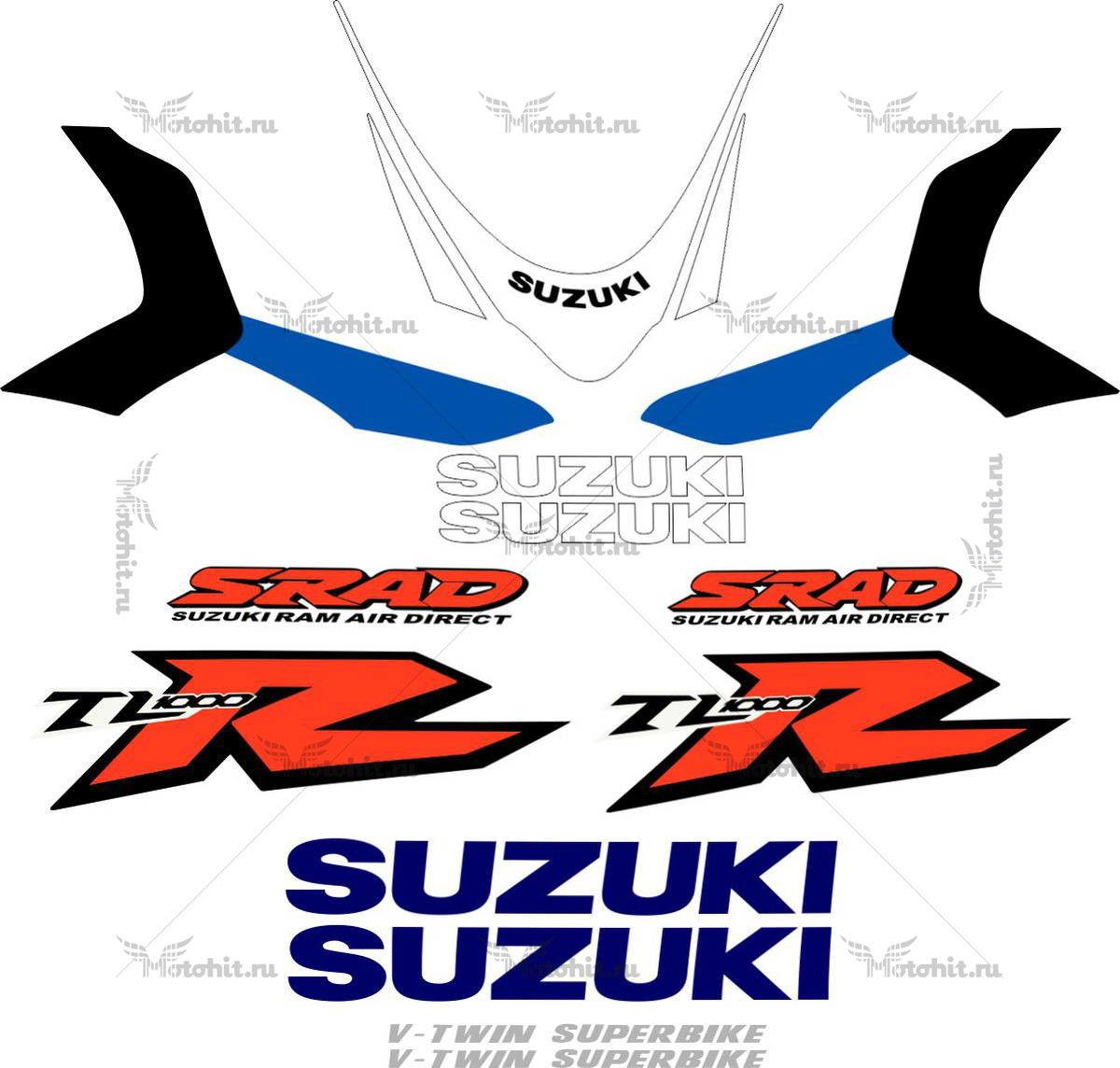Комплект наклеек SUZUKI TL-1000-R 1999 2