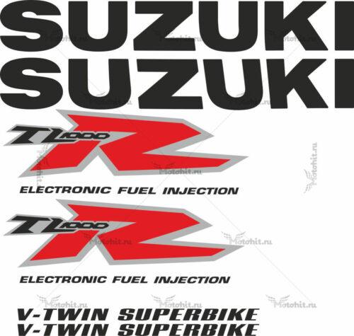 Комплект наклеек SUZUKI TL-1000-R 1999 WHITE-R