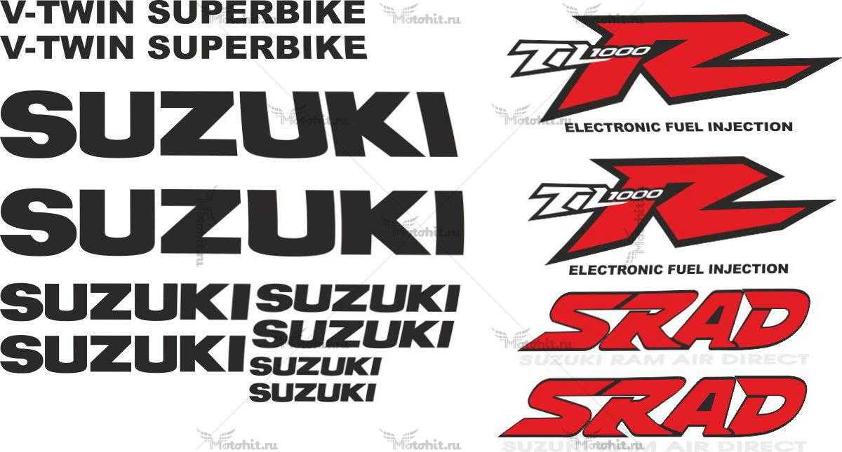 Комплект наклеек SUZUKI TL-1000-R SRAD 1999 TXT