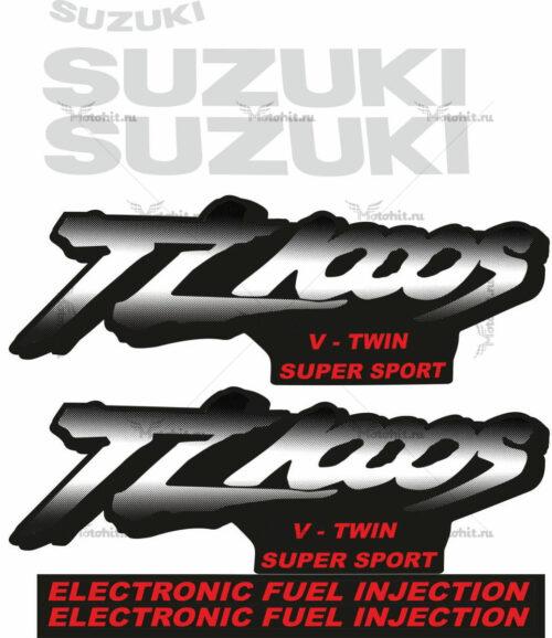 Комплект наклеек SUZUKI TL-1000-S 1997-2003 DOTS