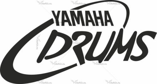 Наклейка Yamaha DRUMS