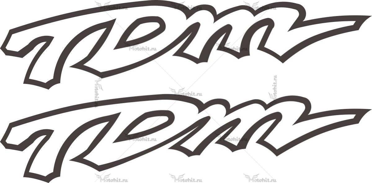 Наклейка Yamaha TDM