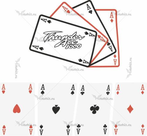 Наклейка Yamaha THUNDERACE-CARDS