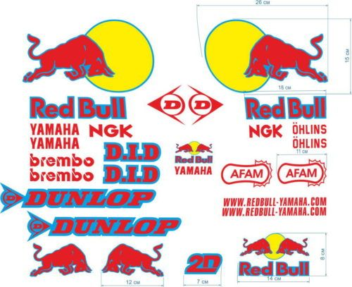 Комплект наклеек Yamaha RED-BULL