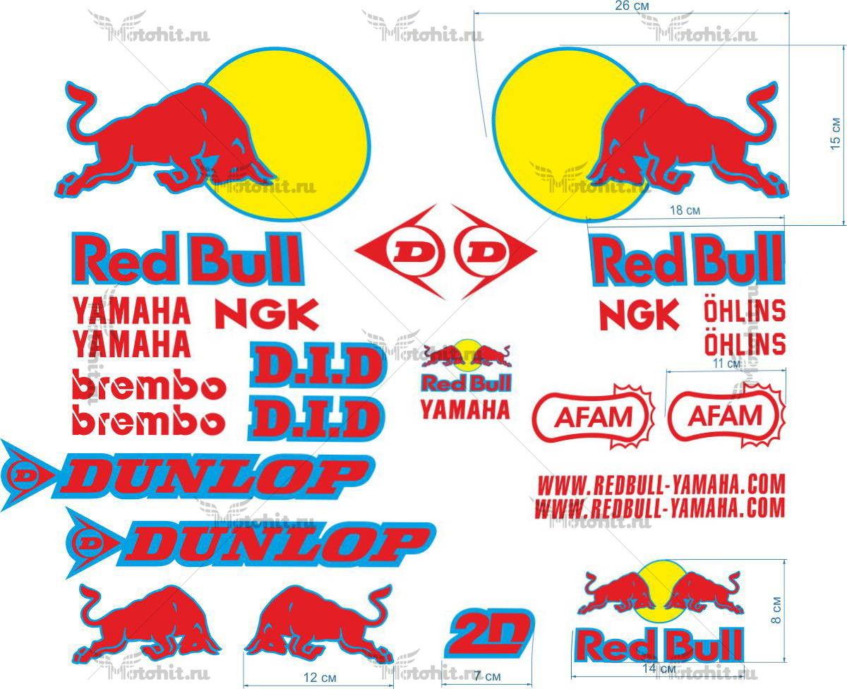 Комплект наклеек Yamaha RED-BULL