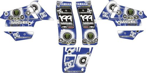 Комплект наклеек Yamaha YZF-350 BANSHEE-DCSHOES-MILITAR