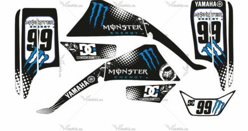 Комплект наклеек Yamaha BLASTER-200 MONSTER-BLUE