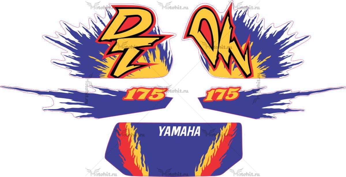 Комплект наклеек Yamaha DT-175 2000 EXPLOSION