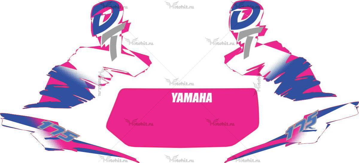 Комплект наклеек Yamaha DT-175 2000 MANCHA