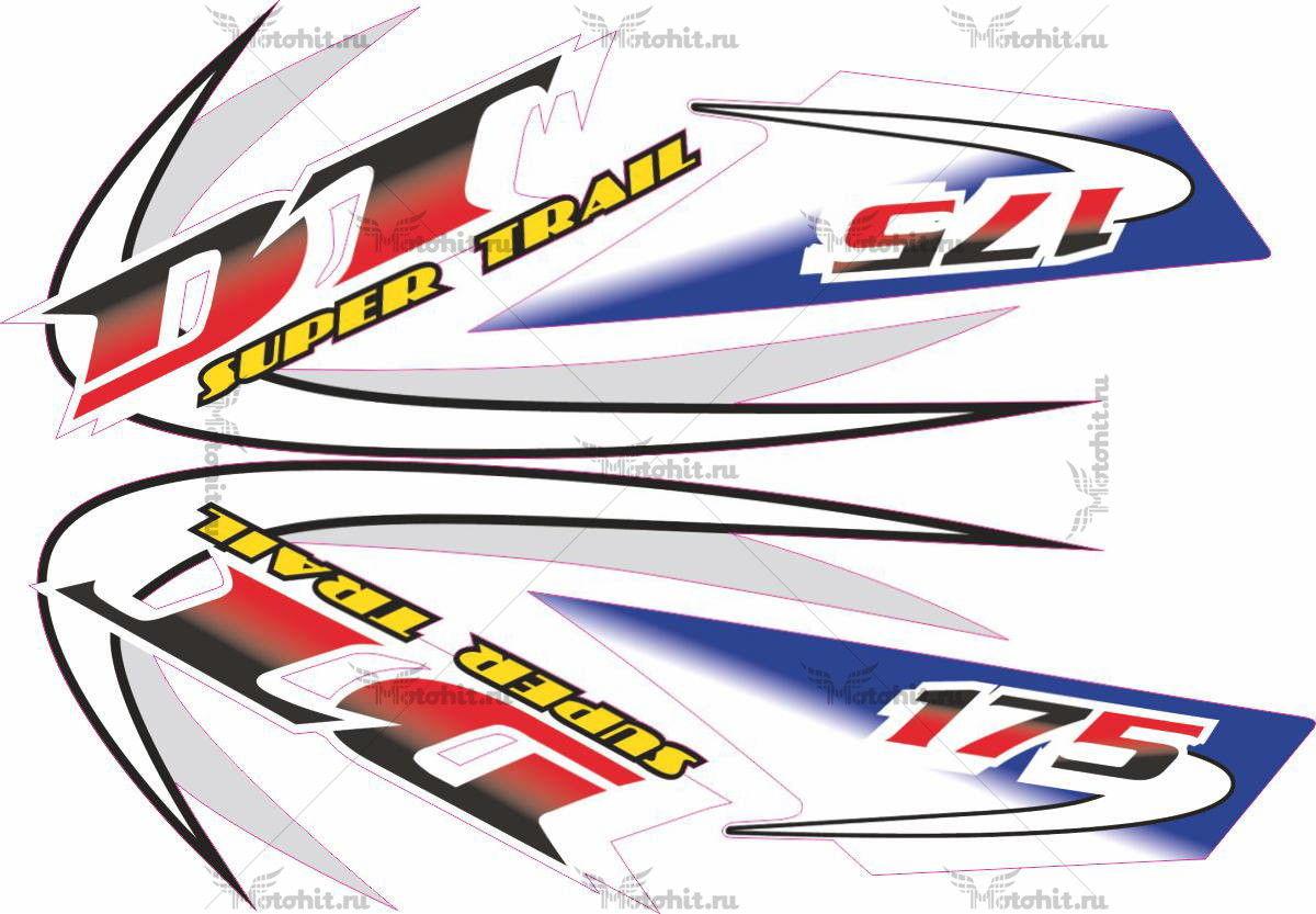 Комплект наклеек Yamaha DT-175 2005 SUPER-TRAIL