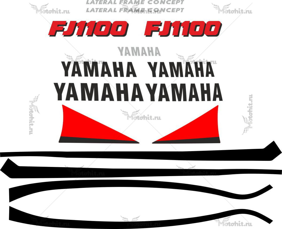 Комплект наклеек Yamaha FJ-1100 1994+