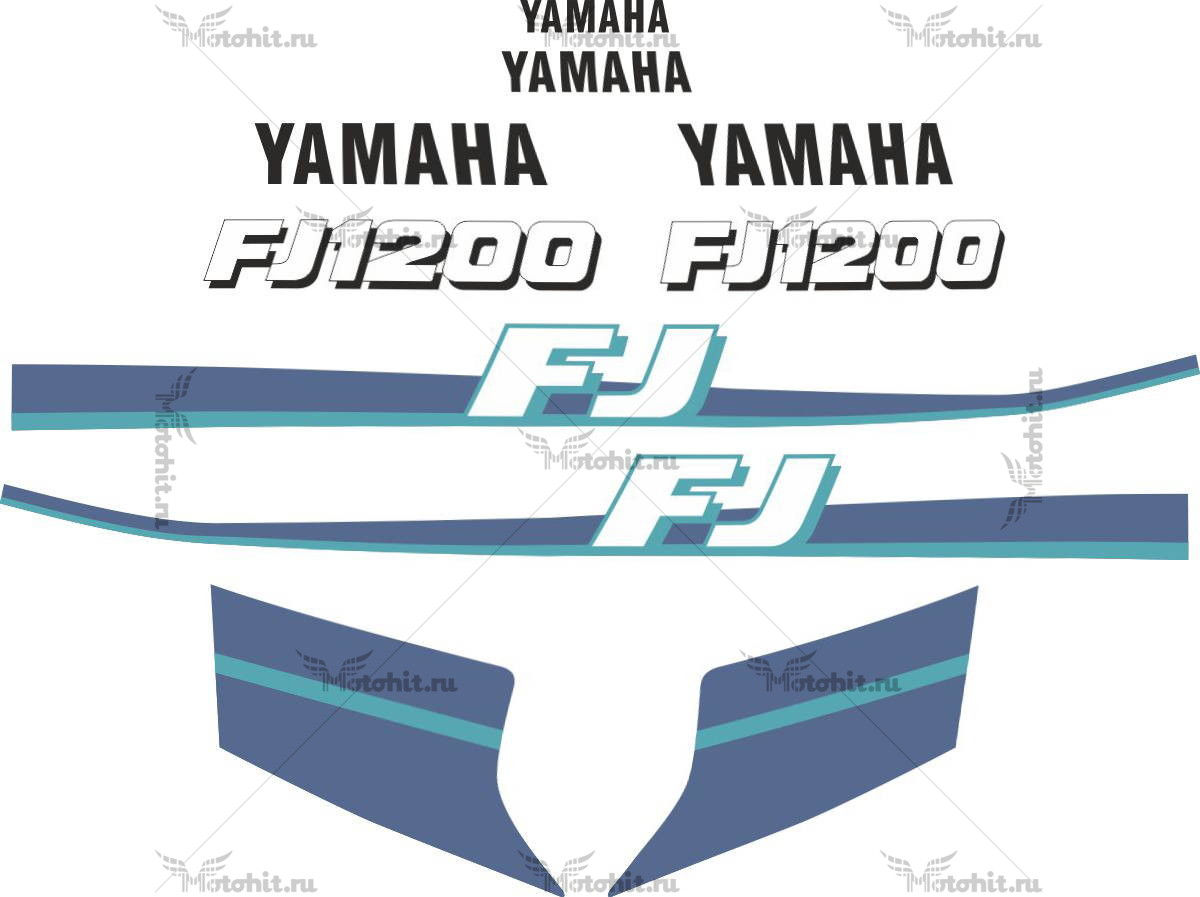 Комплект наклеек Yamaha FJ-1200 BLUE 1995+