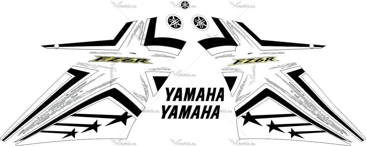 Комплект наклеек Yamaha FZ-6R 2009-2015 STARS