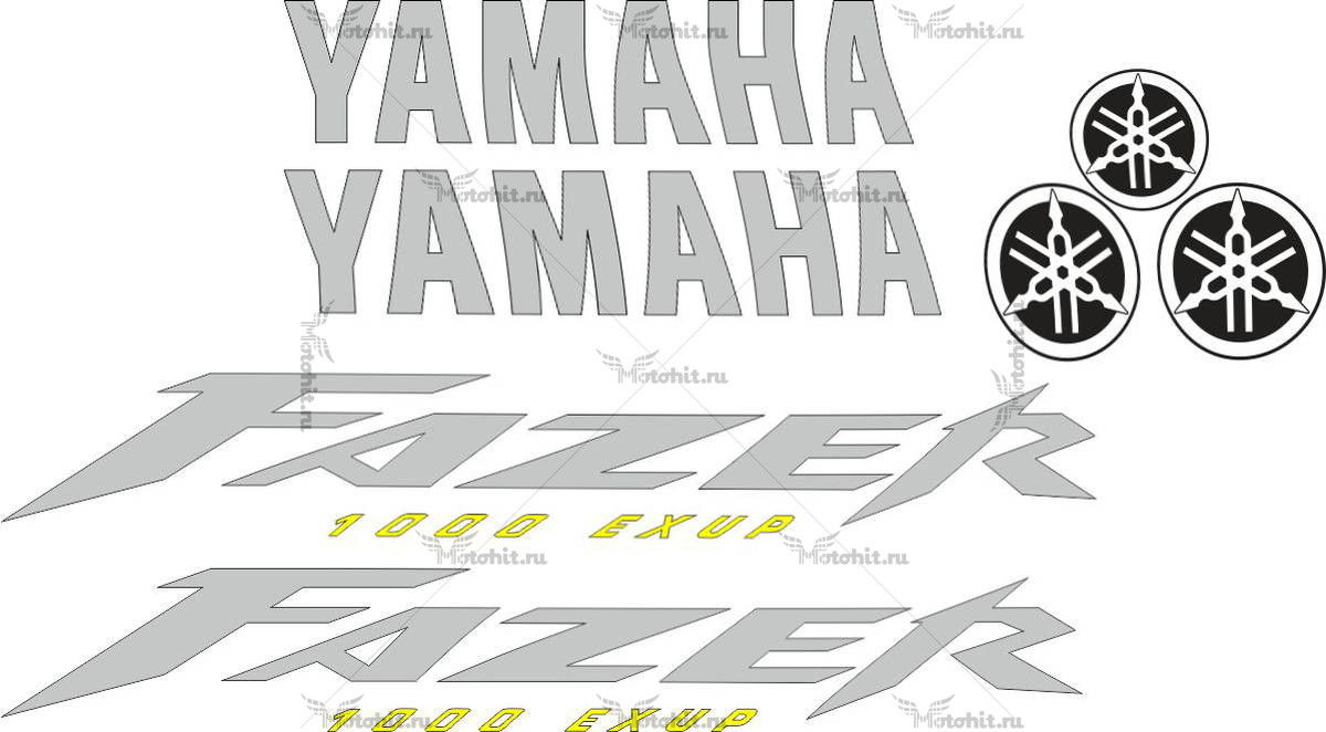 Комплект наклеек Yamaha FZS-1000 2001-2005 FAZER+CAMERTONS