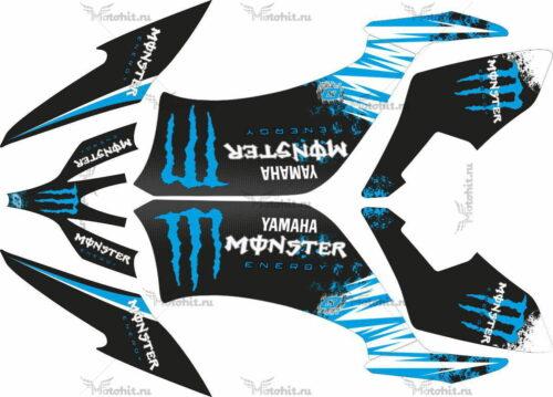 Комплект наклеек Yamaha YFM-250 RAPTOR-MONSTER-BLUE-2