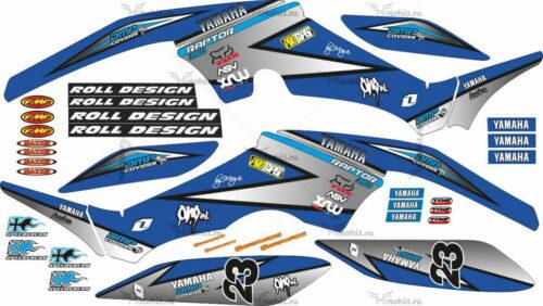 Комплект наклеек Yamaha RAPTOR-350 DMP-COVERS