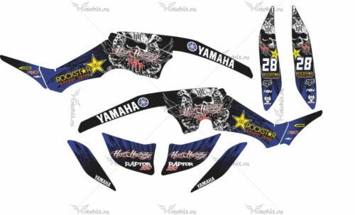 Комплект наклеек Yamaha RAPTOR-350 ROCKSTAR-BLUE