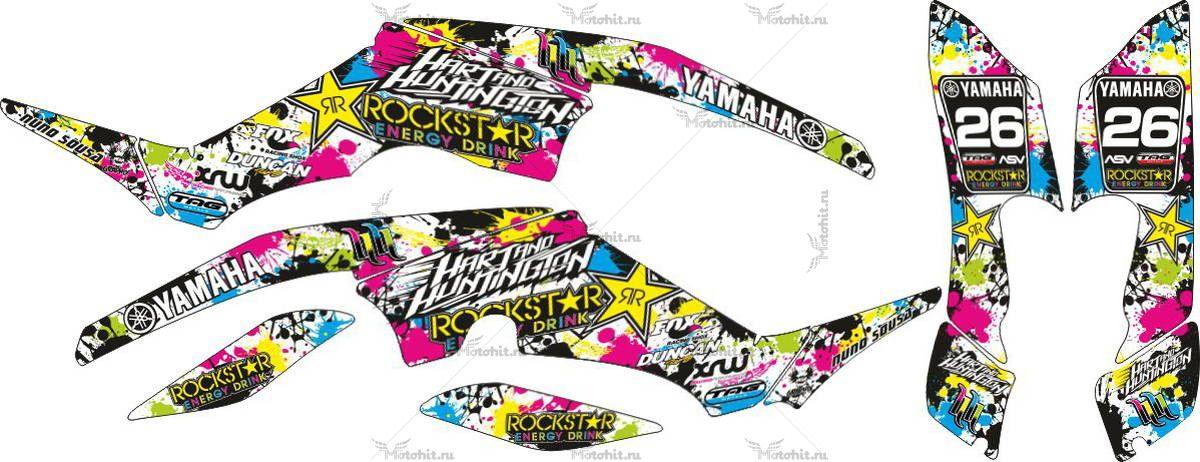 Комплект наклеек Yamaha RAPTOR-350 ROCKSTAR-COLOURS