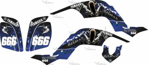 Комплект наклеек Yamaha RAPTOR-660 HITMAN