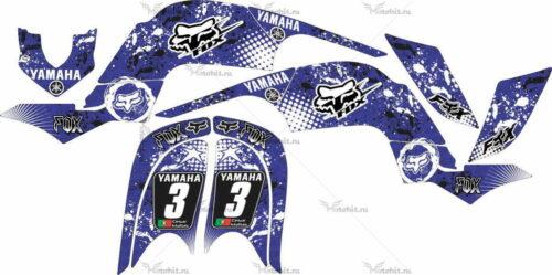 Комплект наклеек Yamaha RAPTOR-660 VIOLET