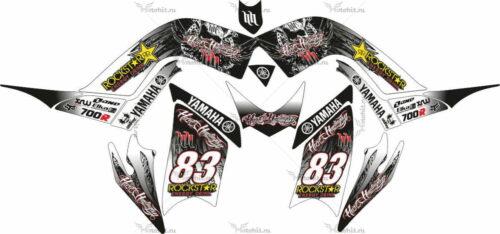 Комплект наклеек Yamaha RAPTOR-700 2006-2009-BLACK
