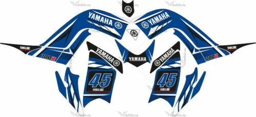 Комплект наклеек Yamaha RAPTOR-700 BLUE