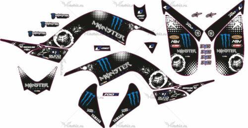 Комплект наклеек Yamaha RAPTOR-700 MONSTER-700