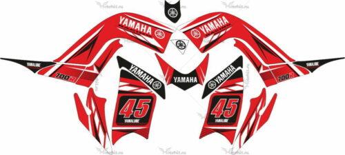 Комплект наклеек Yamaha RAPTOR-700 RED