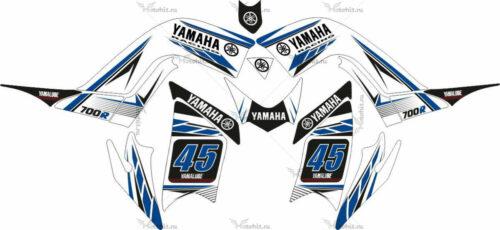 Комплект наклеек Yamaha RAPTOR-700 WHITE-BLUE