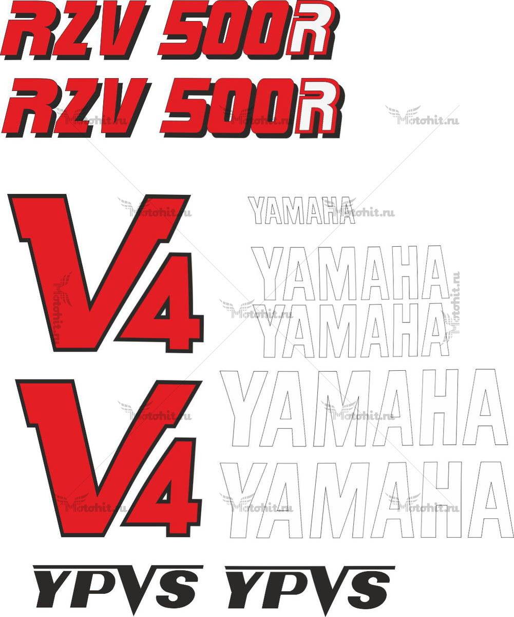 Комплект наклеек Yamaha RZV-500-R 1985+