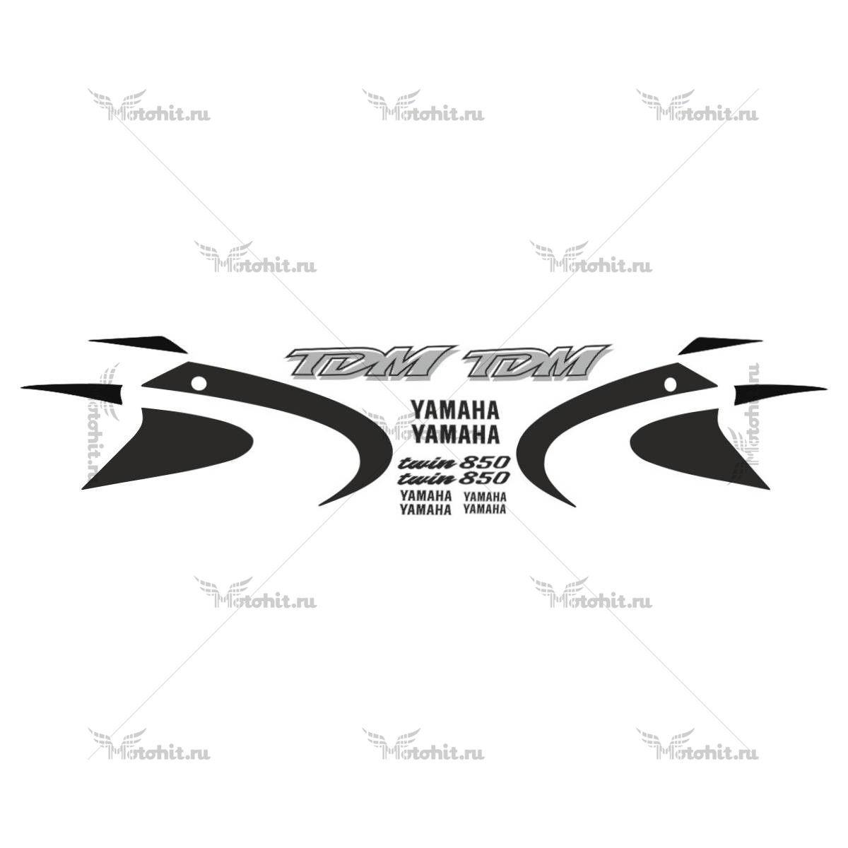 Комплект наклеек Yamaha TDM-850 2000-2001 BLACK