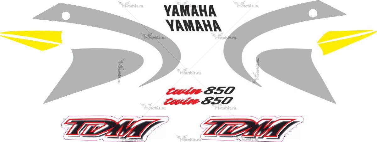 Комплект наклеек Yamaha TDM-850 2000-2001 CLASSIC