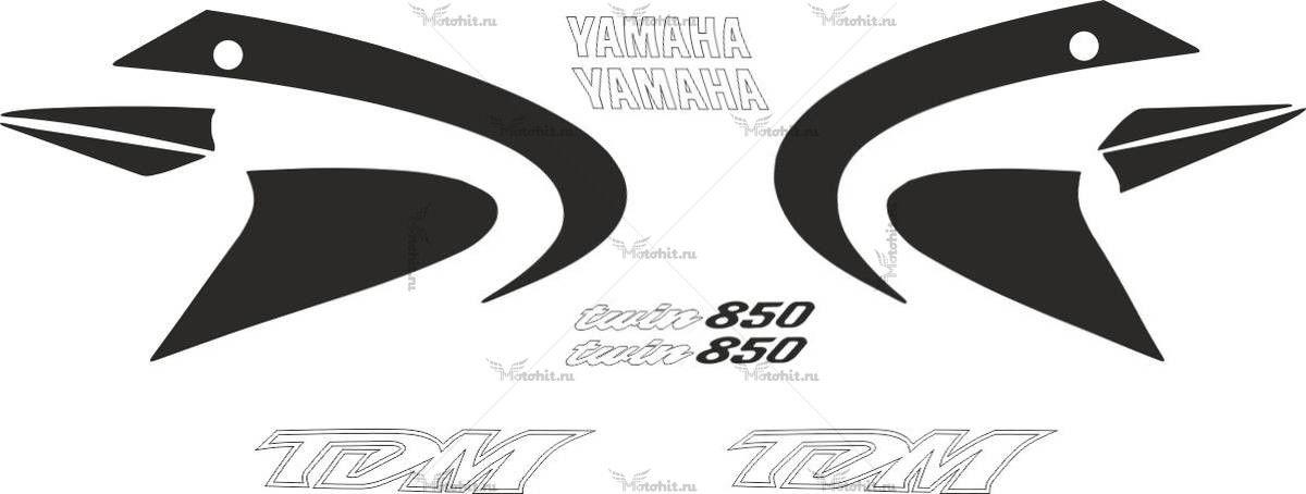Комплект наклеек Yamaha TDM-850 2000-2001 CLASSIC-BLACK