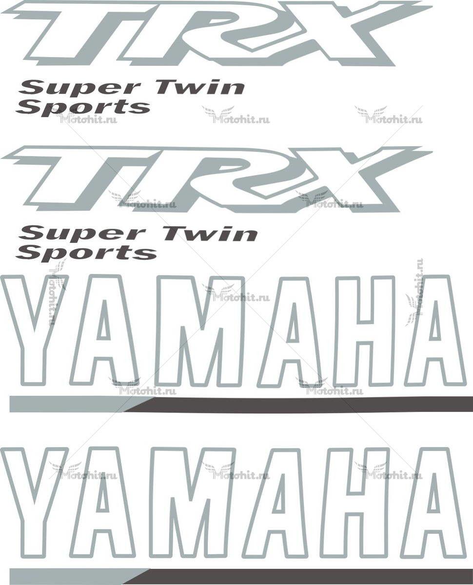 Комплект наклеек Yamaha TRX-850 1998