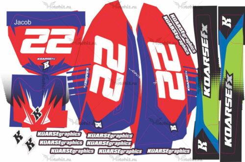 Комплект наклеек Yamaha TTR-50 2006-2012