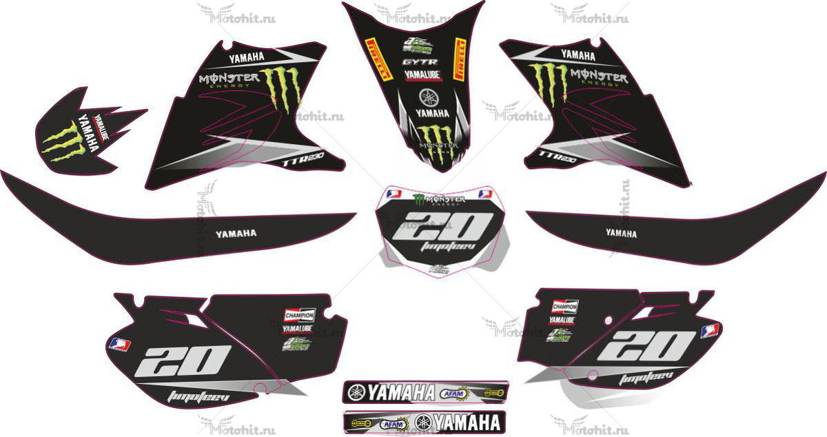Комплект наклеек Yamaha TTR-230 2006-2012