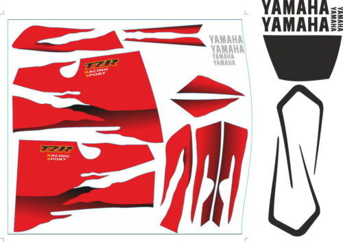 Комплект наклеек Yamaha TZR-125-RR 1994