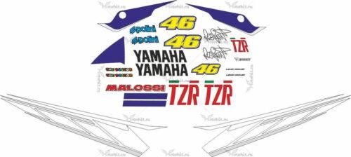 Комплект наклеек Yamaha TZR 2008 ROSSI