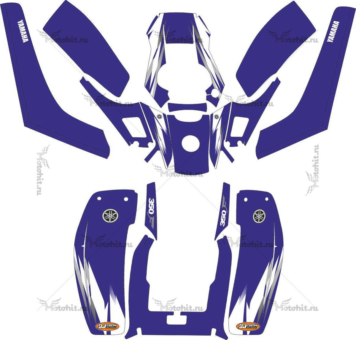 Комплект наклеек Yamaha WARRIOR-350 ALLSIGN